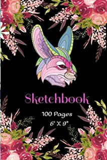 """SKETCHBOOK 6""""X 9"""" 100 Pages: Fennec Fox Animal Themed Cutie Foxes Sketchbook Blank Book unlined Journal for Girls & Boys. ..."""