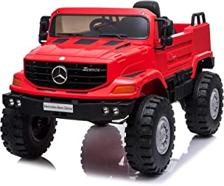VALUE BOX Licensed Mercedes Benz Kids 12V Ride On SUV, Battery Motorized Electric Cars Vehicles w/ Remote Control, LED Headlights, Music, Horn, Adjustable Seat Belt, 3.7 MPH, Red