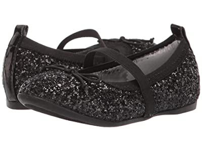 Nina Kids Esther-T (Toddler/Little Kid) (Black Glitter) Girls Shoes