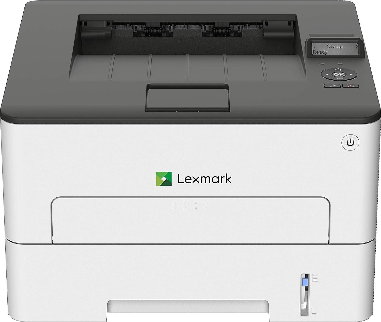Lexmark B2236dw Monochrome Compact Laser Printer, Duplex Printing, Wireless Network capabilities (18M0100), White/ Gray, Small