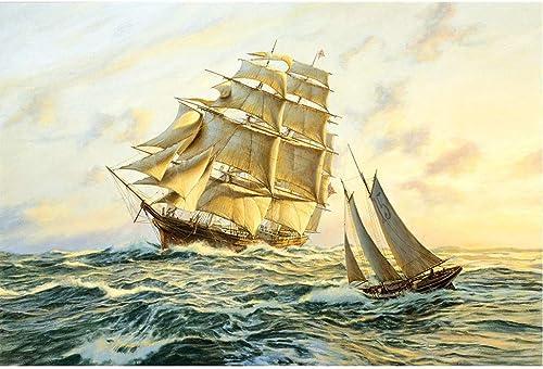 todos los bienes son especiales Puzzle House- Sailing in Ocean Ocean Ocean Drawing, Rompecabezas de Basswood, Velero en velero, Cut & Fit, 500 1000 1500 Piezas Rompecabezas de Madera en Caja Pintura Juguetes Juego Arte para Adultos y ni  buscando agente de ventas
