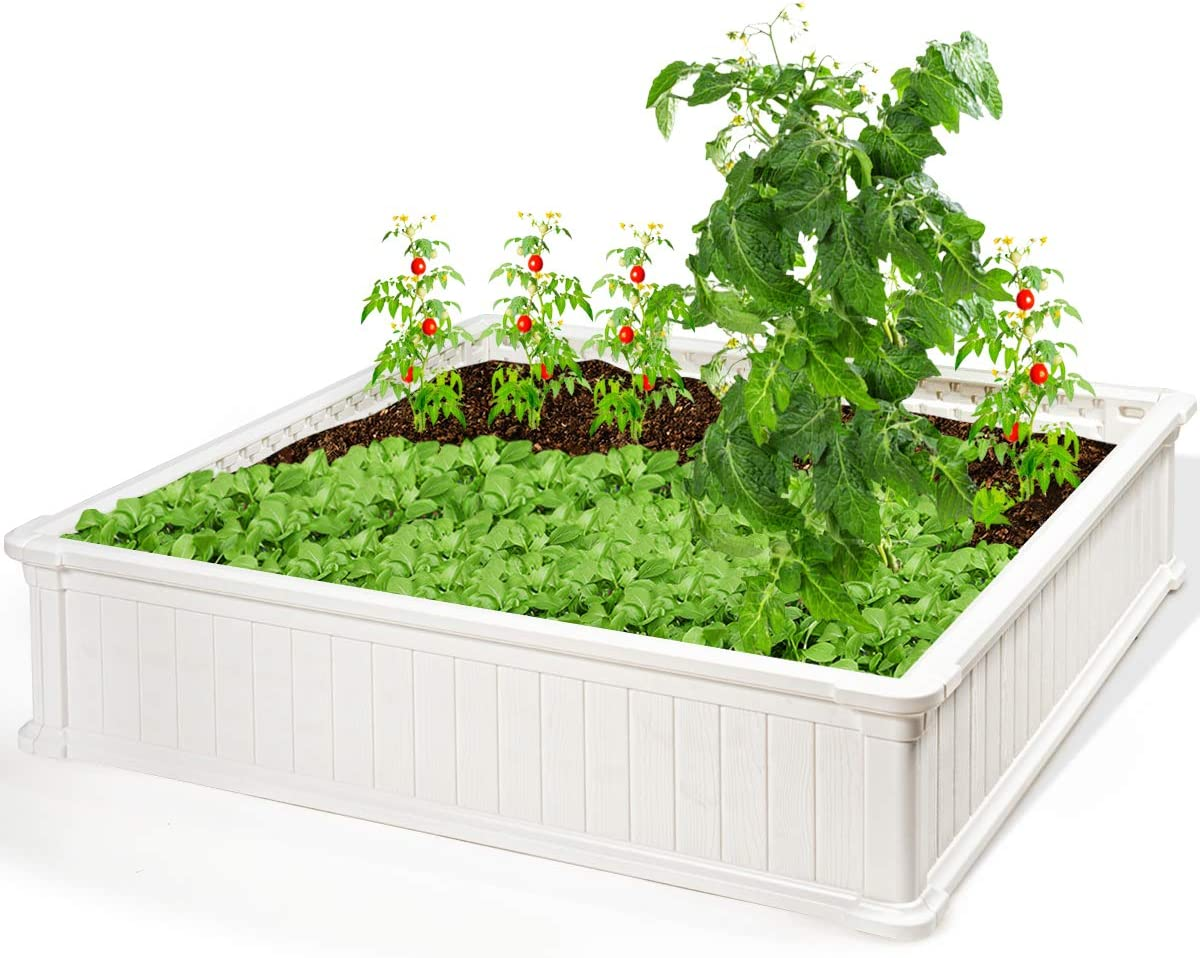 Giantex Raised Garden Bed Planter Outdoo Flower Limited price sale for Vegetables Ranking TOP14