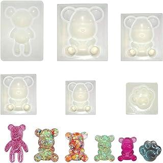 Moules en silicone époxy - Moules de coulage, 5 pièces d'ours en résine - Moules en résine - Set avec 1 pièce de patte d'o...
