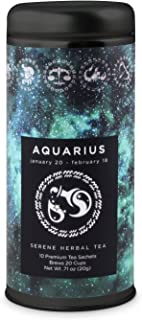 Aquarius Astrology Tea- Serene Herbal: All-Natural, Caffeine Free, Chamomile, Improve Sleep, Digestive Health, Gluten Free, 24 servings