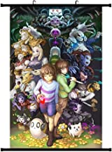 Elibeauty Anime Undertale Scroll Poster, Anime Cartoon Character Poster Waterproof Cloth Wall Scroll Poster Hanging Paintings Home Decor Perfect for Anime-Fans(Medium Style 01)