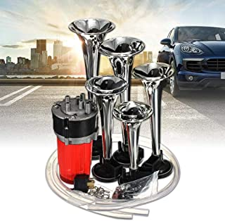 12v 5 Trumpet Mical Dixie Duke of Hazzard Electronic Chrome Air Horn Compose 125db for Car Truck Boat
