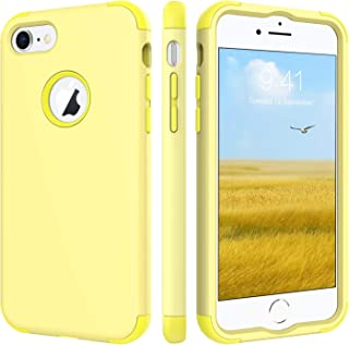 BENTOBEN Case for iPhone 8/iPhone 7, Three Layer Heavy Duty Shockproof Hybrid Coated Full-Body Protective Rugged Bumper Girl Women Phone Cover Case for Apple iPhone 8/7 (4.7 Inch), Cute Jelly Yellow
