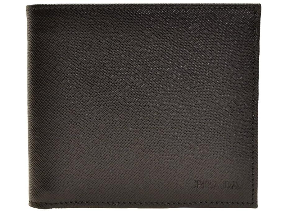 ベッドを作る海藻海藻(プラダ) PRADA 財布 二つ折り メンズ ブラック サフィアノレザー 2mo738saf1-nero ブランド [並行輸入品]