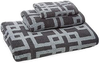 ADI American Dawn 4040KK970 Chippendale 3 Piece Towel Set in Silver/Charcoal,