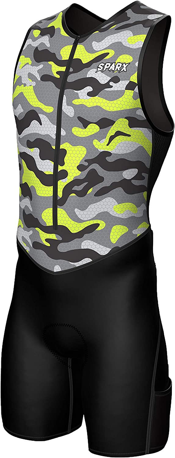 Now on sale Sparx Mens Premium Triathlon Cheap mail order specialty store Padded Race Tri Suit