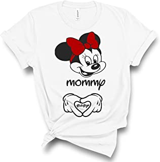 Maternity Disney Minnie Mommy T Shirt Funny Pregnancy Announcement Tee
