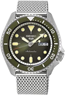Seiko 5 FACELIFT, 10 Bar water resistant, Calendar, Green dial, Stainless Steel, Men's watch SRPD75K1