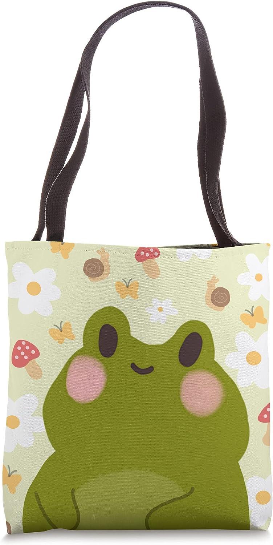 Cute Kawaii Frog Graphic Tote Bag