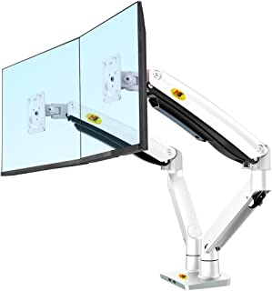 North Bayou Dual Monitor Desk Mount Stand Full Motion Swivel Computer Monitor Arm Gas Spring fits 2 Screens up to 32'' 19....