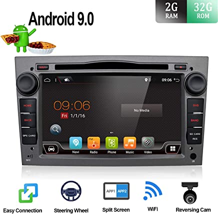 BXLIYER Android 9.0 Autoradio Compatible para Opel Vauxhall Antara Astra Zafira Corsa Meriva Coche Navegacion GPS WLAN Mirror-Link DAB+|2 Din 7 pulgadas 2G+32G Octa Core|LIBRE Cámara trasera & Canbus