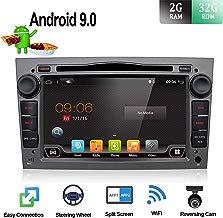 BXLIYER Android 9.0 Autoradio Compatible para Opel Vauxhall Antara Astra Zafira Corsa Meriva Coche Navegacion GPS WLAN Mirror-Link DAB+ 2 Din 7 pulgadas 2G+32G Octa Core LIBRE Cámara trasera & Canbus