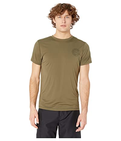 Rip Curl Compass Short Sleeve UV Tee (Khaki) Men