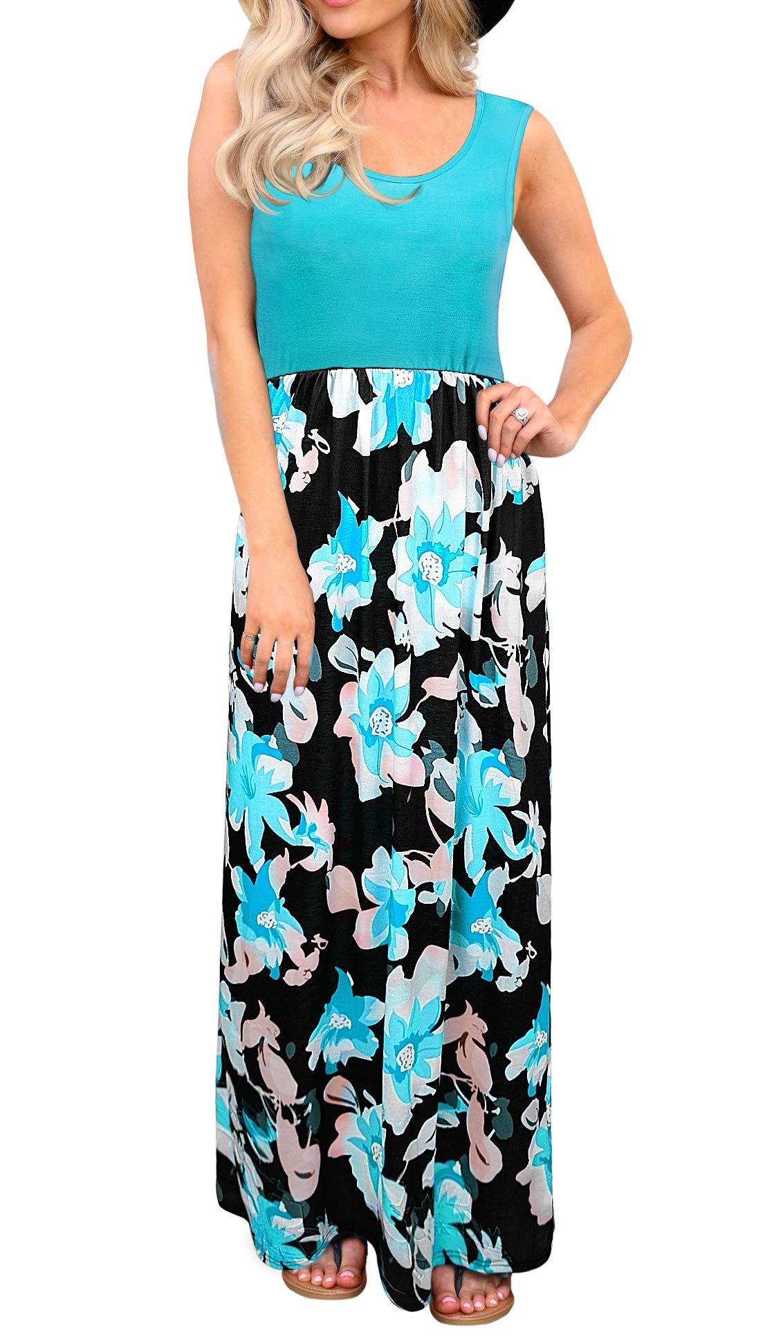 Available at Amazon: Aifer Women's Casual Sleeveless Maxi Dresses Floral Print Sundress Beach Dress