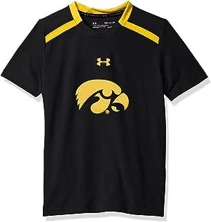 Under Armour NCAA Iowa Hawkeyes Teen-Boys NCAA Boys Short Sleeve Vented Tee, X-Large, Black