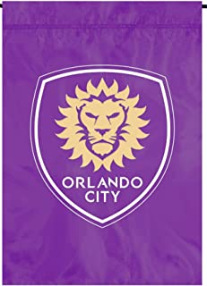 Party Animal Orlando City SC Premium Garden Flag Applique & Embroidered Banner Soccer MLS Football Club