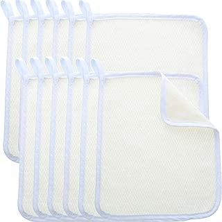 Blulu Exfoliating Face Body Wash Cloth Towel Dual-Sided Exfoliating Scrub Towel Soft Weave Beauty Skin Washcloth Home Massage Bath Cloth (10 Pack)