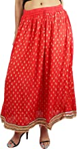 Indian Party/Casual Wear Flared Long Skirt,Leaf Design Printed Long Skirt