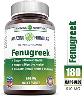 Amazing Formulas Fenugreek Seed Supplement 610 Mg 180 Veggie Caps