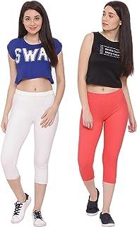 GREENWICH Women's Skinny Fit Capri (Pack of 2)