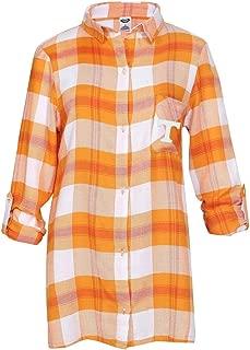 Tennessee Volunteers Womens Long Sleeve Team Pride Flannel Button Up - Texas Orange