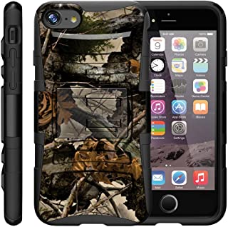 "TurtleArmor | Compatible with Apple iPhone 7 Case | (4.7"") [Hyper Shock] Hybrid Dual Layer Armor Holster Belt Clip Case Ki..."