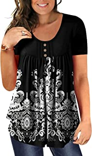 Women's Plus Size Tunic Tops Casual Flowy Tshirts Ruched...