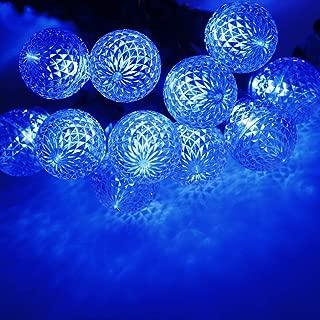 Uzexon G30 13 Foot Outdoor Globe Led Lights Blue String Lights ,25-Count Commercial Grade Home Patio Garden Lights,Party Wedding Mood Lighting