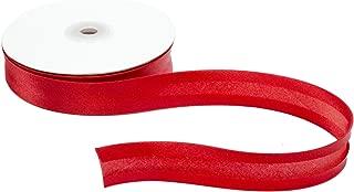 Satin Ribbon Bias Tape 25 mm Single Fold - Red - 5 Yards