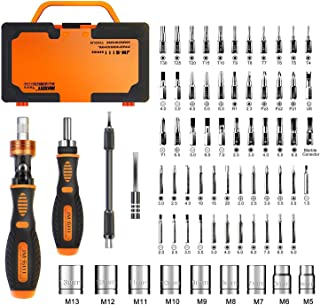 Jakemy Home Rotatable Ratchet Screwdriver Set, 69 in 1 Household Repair Toolkit,..