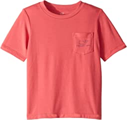 Pigment Dyed Edgartown Vintage Whale Pocket Tee (Toddler/Little Kids/Big Kids)