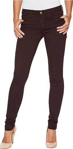 Mavi Jeans - Adriana Mid-Rise Super Skinny in Wine Twill