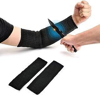 Yosoo Black Sleeve Arm Protection Sleeve Anti-Cut Burn Resistant Sleeves,Anti Abrasion Safety (A Pair)
