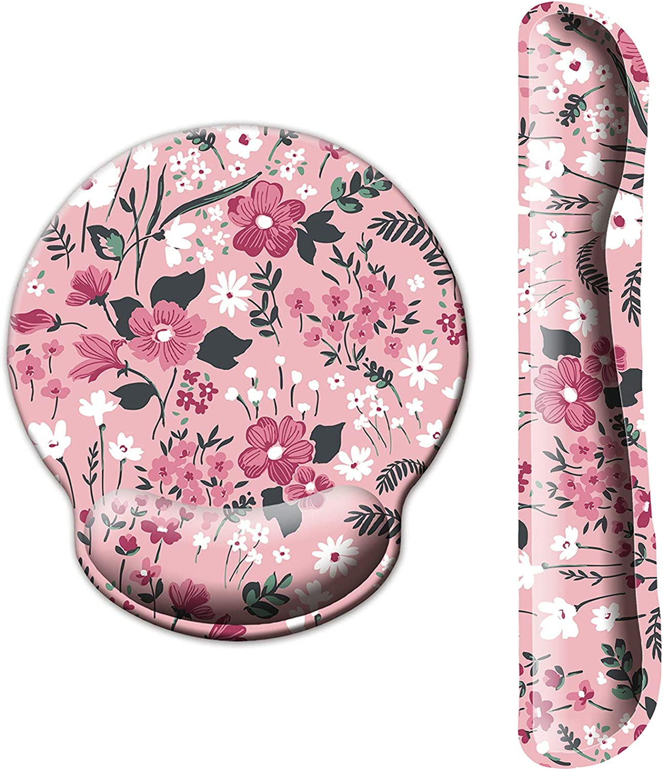 ITNRSIIET Upgraded Ergonomic Keyboard Wrist Rest and Mouse Wrist Rest Pad Set, Cute Flower Wrist Pad with Non-Slip Base for Computer, Laptop, Gaming, Working, Easy Typing & Pain Relief : Office Products