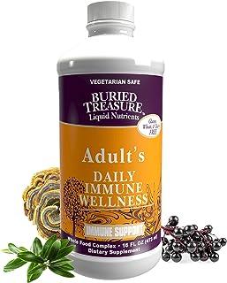 Sponsored Ad - Buried Treasure Adult Daily Immune Wellness, Elderberry Echinacea, Vitamin C, Zinc, Mushroom Formula Reishi...