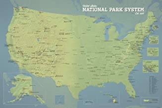 Best Maps Ever National Park System Units Map 24x36 Poster (Natural Earth)