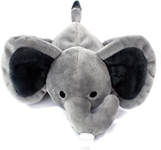 KINREX Grey Elephant Pacifier Holder - Baby Soothie Stuffed Animal Toy - Measures 18 cm. - 7.09