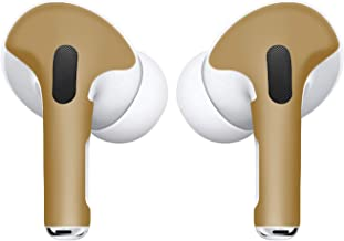 APSkins Skins for AirPods Pro. Protective Wraps Stickers to Cover Air Pods – Compatible Sticker Wrap Decal with Apple Air Pod Pro Accessories (Gold)