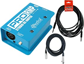Radial ProRMP 1-channel Passive Re-Amping Device Direct Box with 18.6ft Instrument Cable