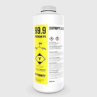 Isopropyl Alcohol 99.9% (IPA) - Laboratory-Grade Superior Solvent + Anhydrous Liquid Cleaner | Industrial Cleaner | All Purpose | Premium Quality | 1 Quart (945 mL)