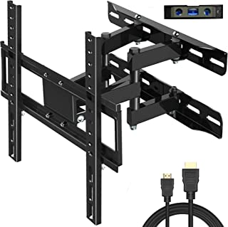 "Everstone TV Wall Mount Fit for Most 26""-60"" TVs Heavy Duty Dual Arm Articulating Full Motion Tilt Swivel 14"" Extension Bracket,LED,LCD,OLED&Plasma Flat Screen TV,Curved TV,Up to VESA 400mm,HDMI Cable"