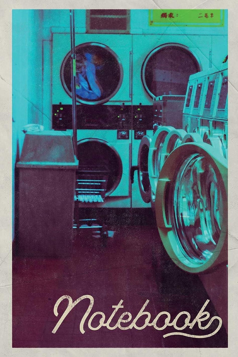 復活させるアーサーマイナーNotebook: Launderette Professional Composition Book Journal Diary for Men, Women, Teen & Kids Vintage Retro Design for notes on how to buy a laundromat business