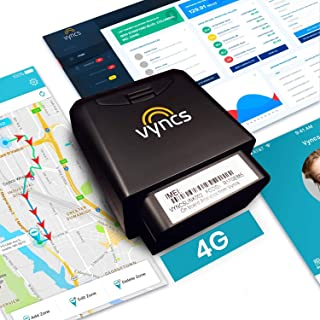 GPS Tracker for Vehicles Vyncs 4G LTE - No Monthly Fee - Real Time, 1 Year Data, SIM - USA-Developed - Car Truck OBD Trip ...