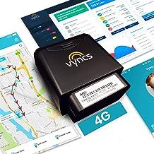 Vyncs enlace OBD conectado para auto sin pago mensual, GPS de auto 3G en tiempo real, rastreador, viajes, diagnóstico de motor, entrenamiento de manejo para adolescentes, asistencia opcional en carretera, Negro