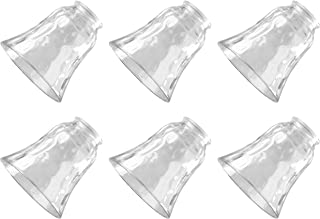 Ciata Lighting Traditional Bell Glass Shade Replacement Shade for Fan/Wall fixtures Shade Pack of 6 (Clear)