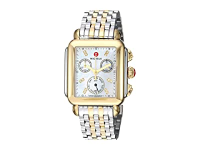 Michele Deco Diamond Two-Tone Stainless Steel Watch (Two-Tone Silver/Gold) Watches